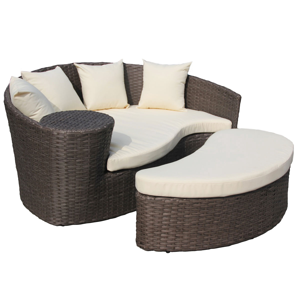 Rattan Daybed Sofa And Footstool Rattan Garden Furniture