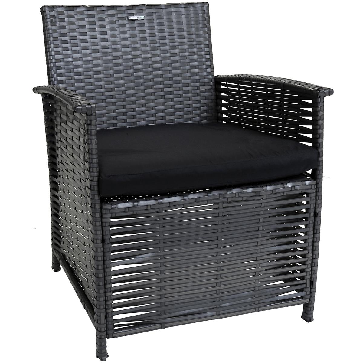 Terrific 4Pc Rattan Patio Dining Set Rattan Garden Furniture Sets Evergreenethics Interior Chair Design Evergreenethicsorg