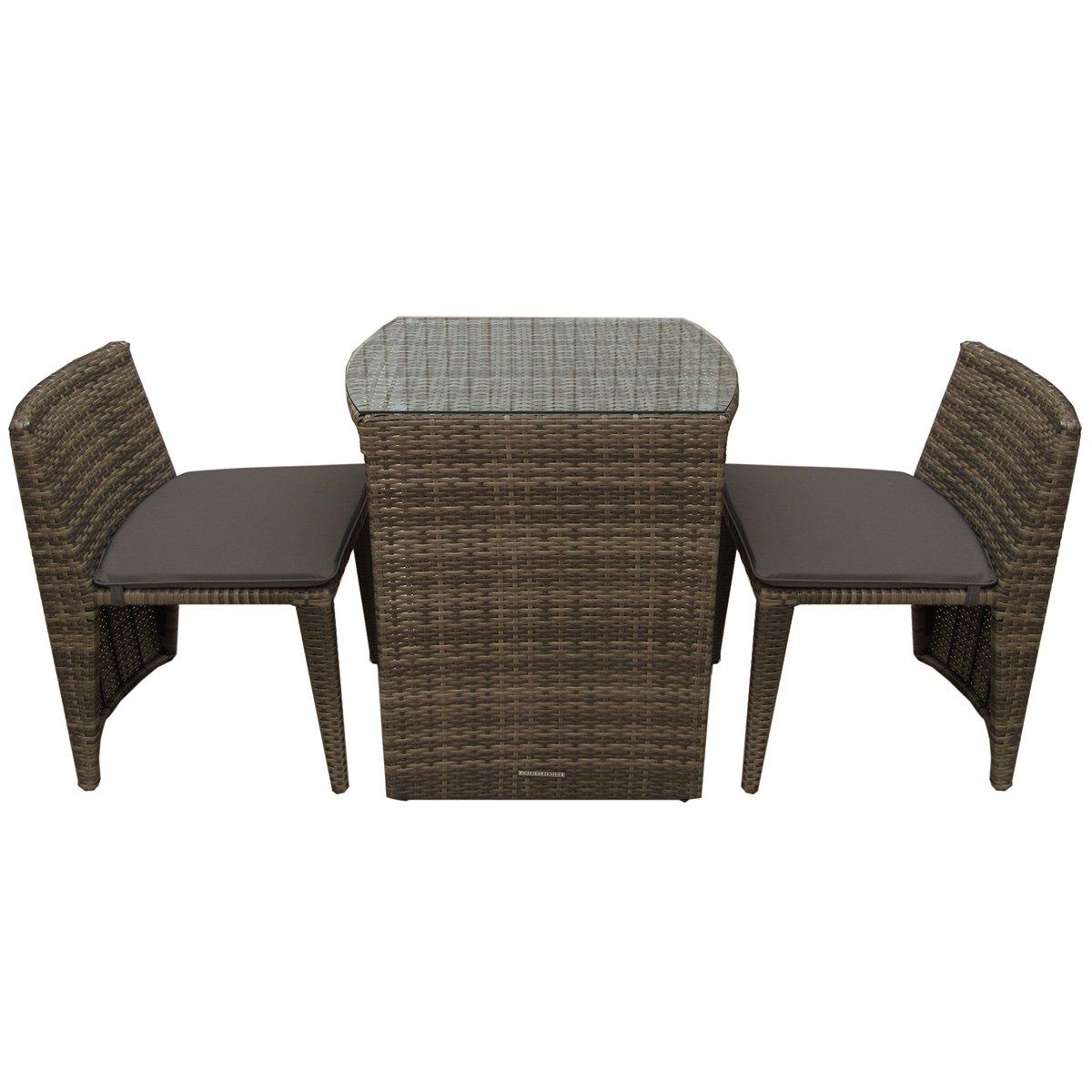 Super 2 Seater Rattan Balcony Bistro Set Brown Dailytribune Chair Design For Home Dailytribuneorg