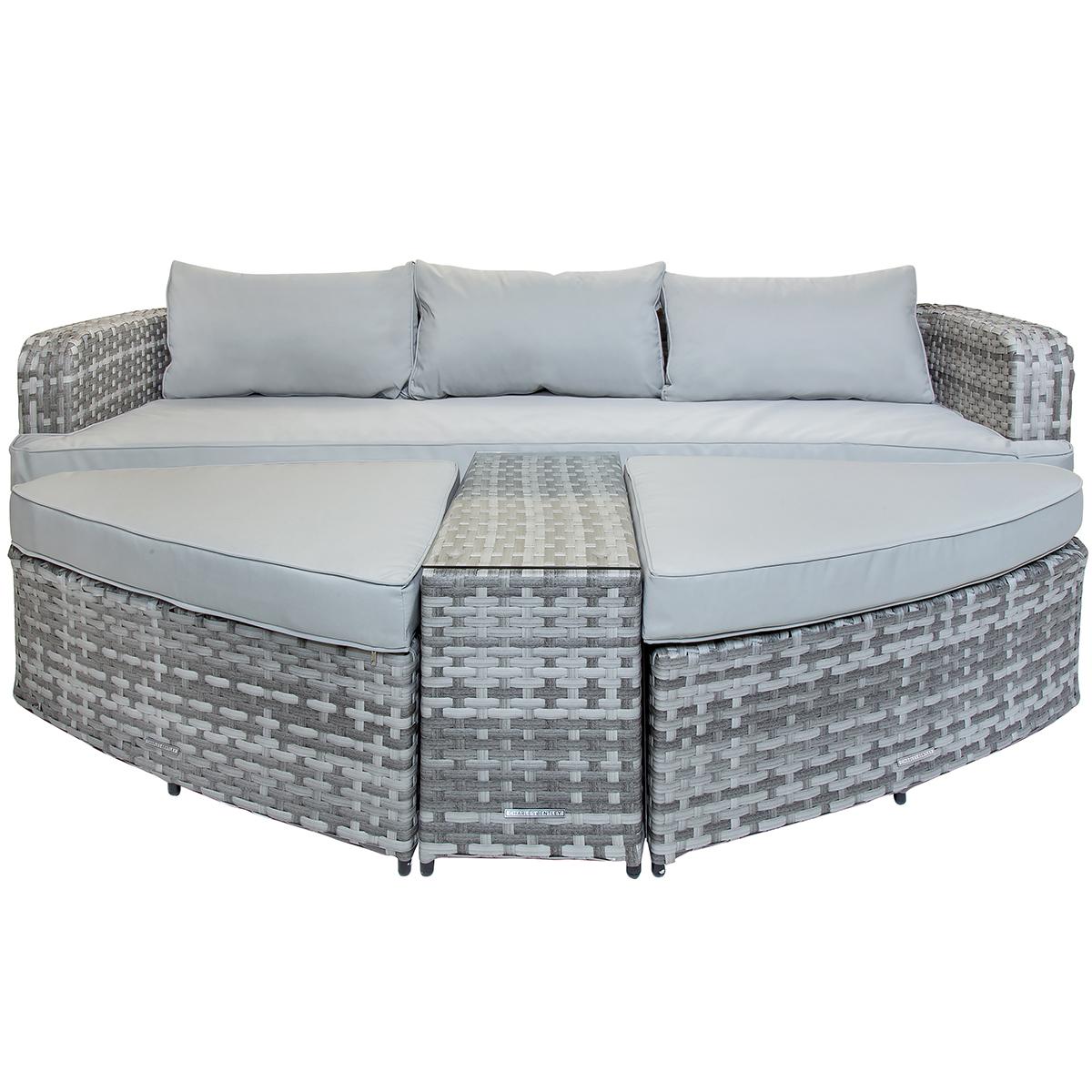 rattan modular sofa daybed footstools table rattan. Black Bedroom Furniture Sets. Home Design Ideas